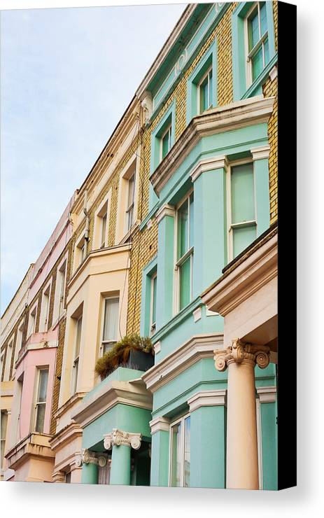 Apartment Canvas Print featuring the photograph London Houses by Tom Gowanlock
