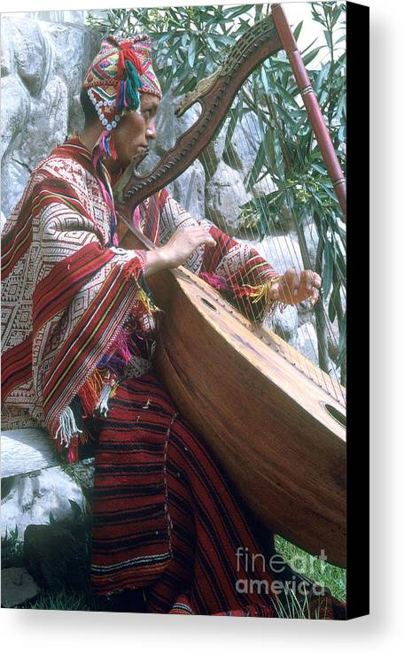 Lute Player Canvas Print featuring the photograph Lute Player by Photo Researchers, Inc.