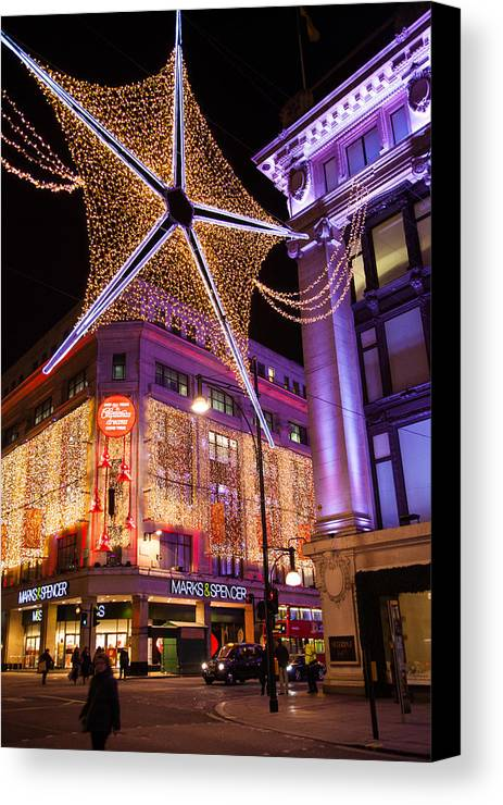 Christmas Canvas Print featuring the photograph Marble Arch Christmas by Adam Pender