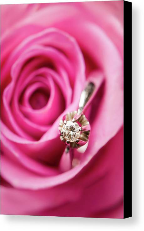 Vertical Canvas Print featuring the photograph Marriage Proposal by Elias Kordelakos Photography