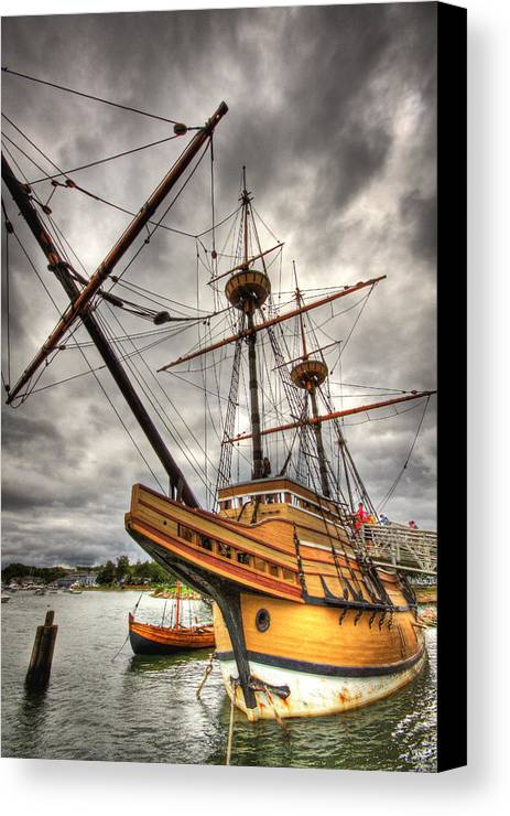 Mayflower Canvas Print featuring the photograph Mayflower II by Michael Yeager