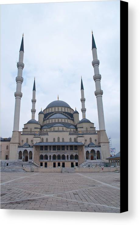 Turkey Canvas Print featuring the photograph Mosque Ankara by Robert M Brown II