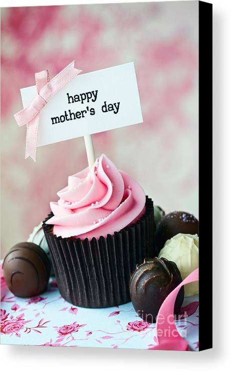Cupcake Canvas Print featuring the photograph Mother's Day Cupcake by Ruth Black