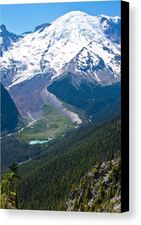 Mount Rainier Canvas Print featuring the photograph Mount Rainier Xi by David Patterson