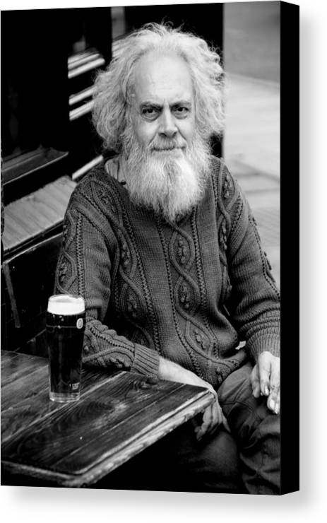 Jezcself Canvas Print featuring the photograph My Lovely Beer by Jez C Self