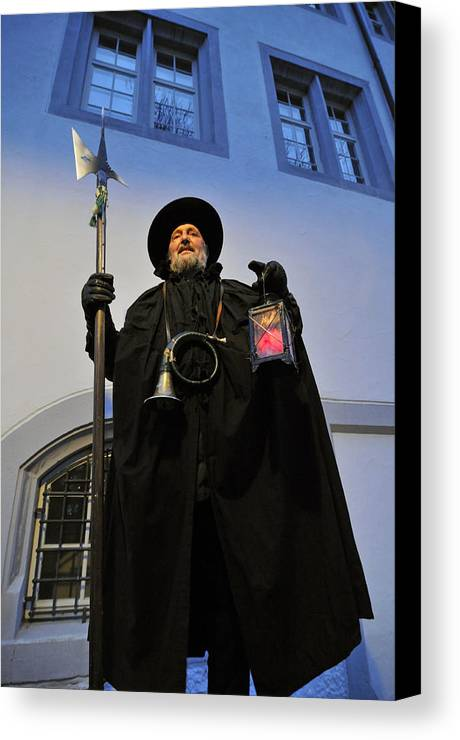 Night Watchman Canvas Print featuring the photograph Night Watchman by Matthias Hauser