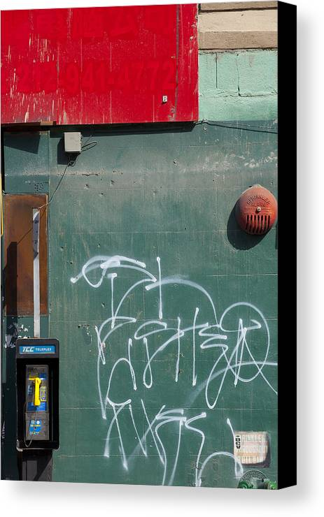 Canvas Print featuring the photograph Ny Composition 2 by Art Ferrier