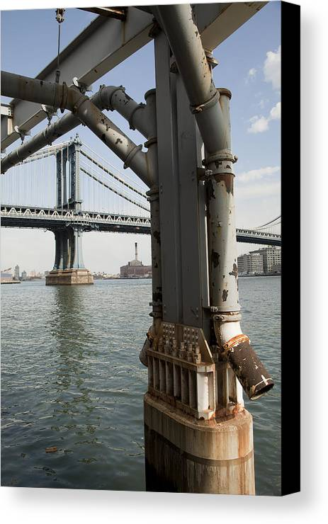 Canvas Print featuring the photograph Ny Composition 4 by Art Ferrier