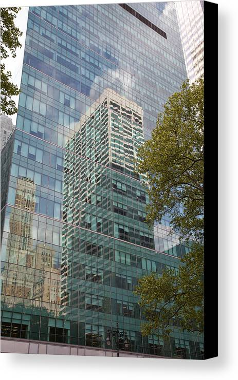 Canvas Print featuring the photograph Nyc Reflection 1 by Art Ferrier