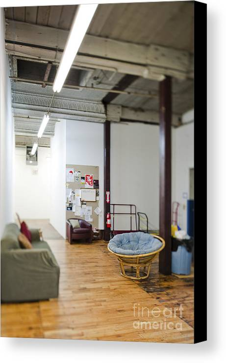 Architecture Canvas Print featuring the photograph Office Waiting Area by Eddy Joaquim