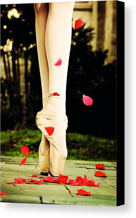 Ballet Canvas Print featuring the photograph On Point by Heather Arsement