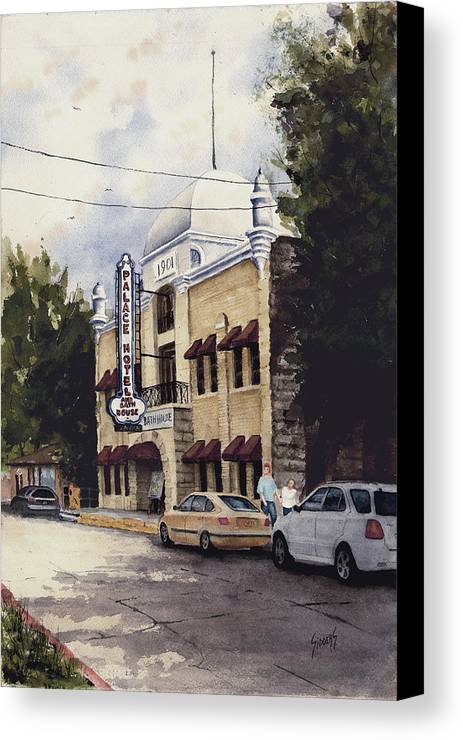 Hotel Canvas Print featuring the painting Palace Hotel by Sam Sidders