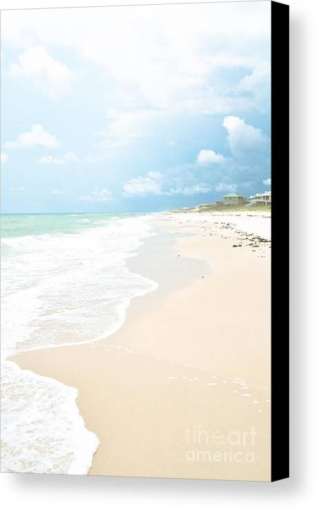 Beach Canvas Print featuring the photograph Paradise Shore by Reflections by Brynne Photography