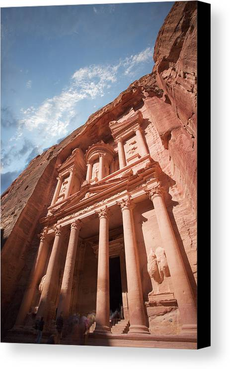 Vertical Canvas Print featuring the photograph Petra, Jordan by Michael Holst Images