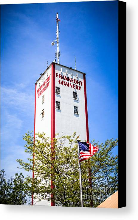 2009 Canvas Print featuring the photograph Picture Of Frankfort Grainery In Frankfort Illinois by Paul Velgos