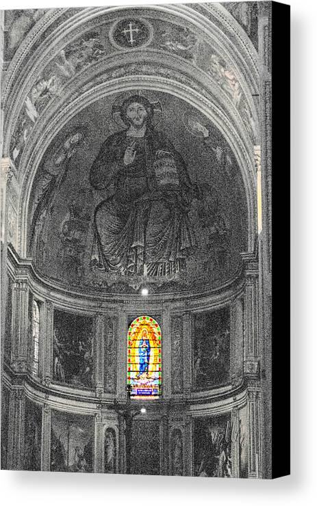 Travel Canvas Print featuring the photograph Pisa Cathedral by Marie Morrisroe