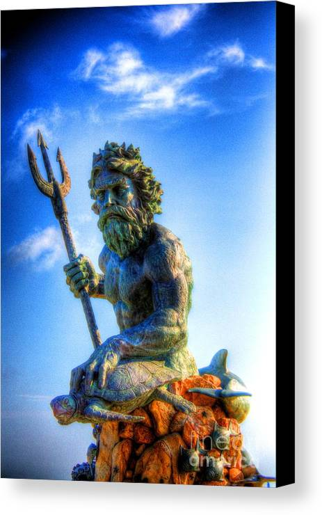 Ancient Canvas Print featuring the photograph Poseidon by Dan Stone