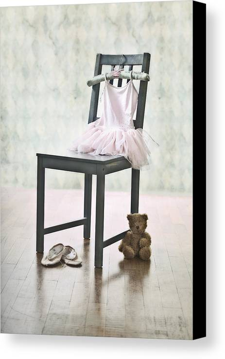 Tulle Canvas Print featuring the photograph Ready For Ballet Lessons by Joana Kruse