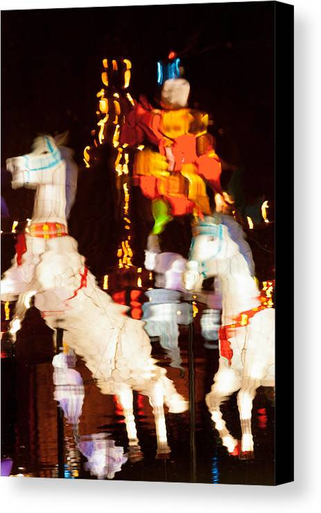 Chinese Lanterns Canvas Print featuring the photograph Reflections 7030 Before by Ken Brodeur