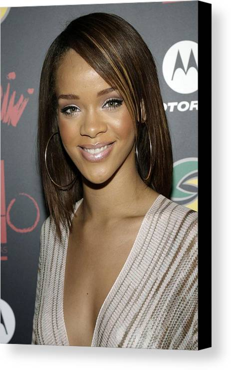 Jay-z And Lebron James� First Annual Two Kings Dinner Party Canvas Print featuring the photograph Rihanna At Arrivals For Jay-z by Everett