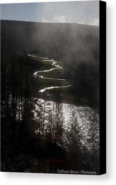 River Canvas Print featuring the photograph River Of Silver by Charles Warren