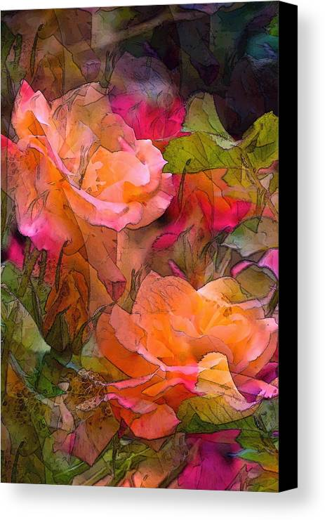 Floral Canvas Print featuring the photograph Rose 146 by Pamela Cooper