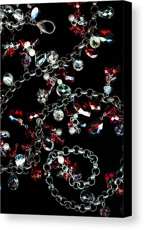 Rubies And Diamond Canvas Print featuring the photograph Rubies And Diamonds by Jillian Barrile