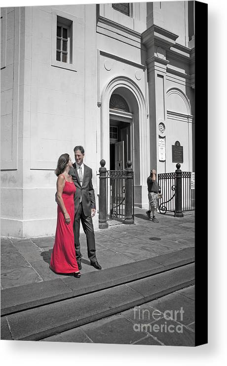 New Orleans Canvas Print featuring the photograph S And D 54 by Kathleen K Parker