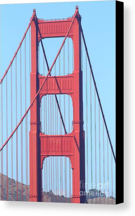San Francisco Canvas Print featuring the photograph San Francisco Golden Gate Bridge . 7d7809 by Wingsdomain Art and Photography