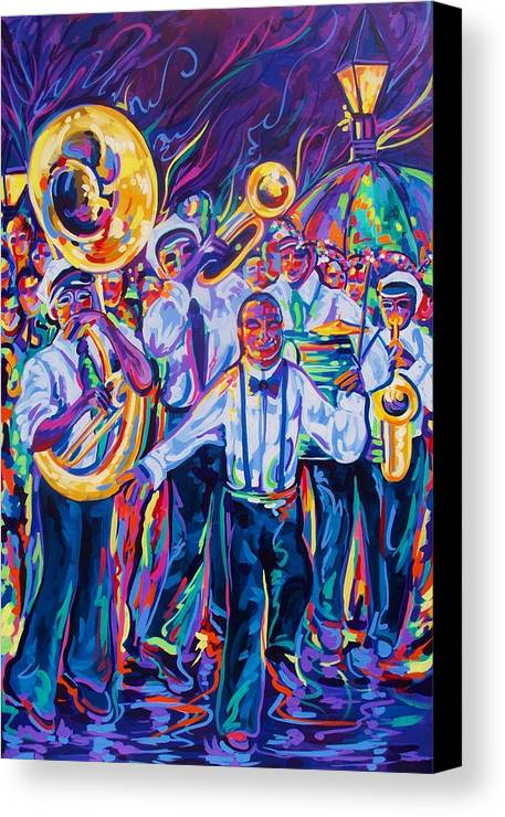 New Orleans Canvas Print featuring the painting Second Line by Elaine Adel Cummins