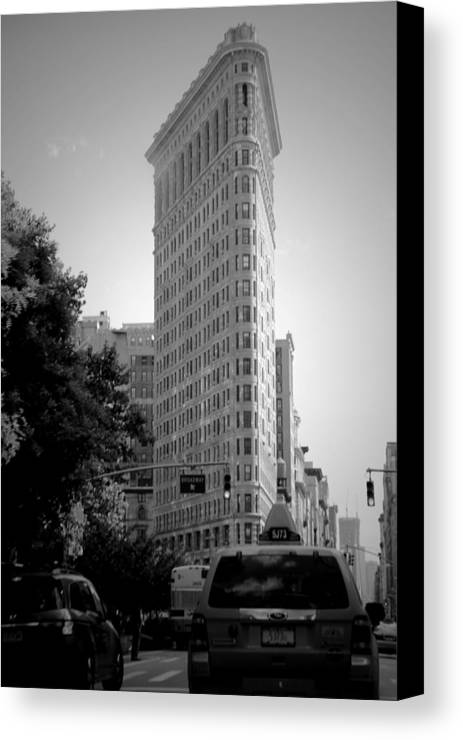 Seen In New York City Canvas Print featuring the photograph Seen In New York City by Beth Akerman