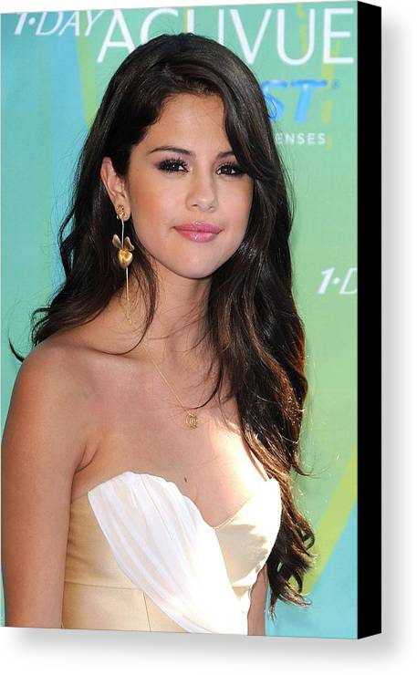 Selena Gomez Canvas Print featuring the photograph Selena Gomez At Arrivals For 2011 Teen by Everett