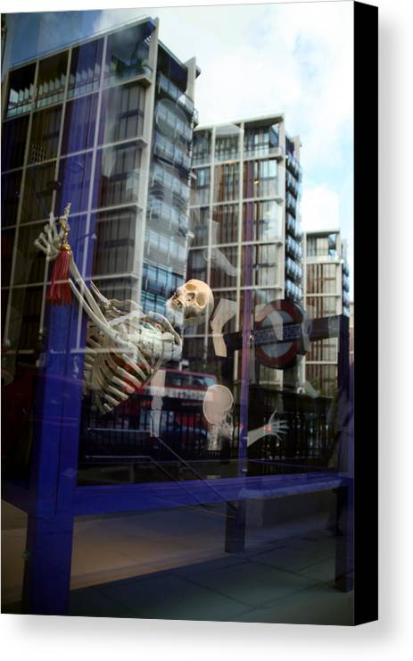 Jezcself Canvas Print featuring the photograph Skull Town by Jez C Self