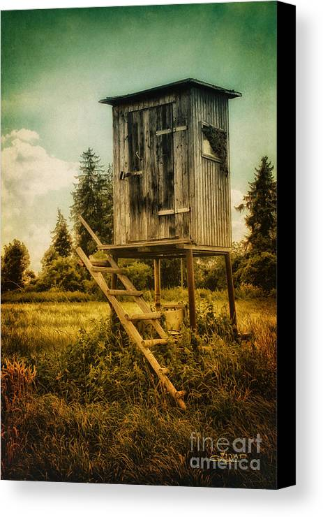 Photo Canvas Print featuring the photograph Small Cabin With Legs by Jutta Maria Pusl