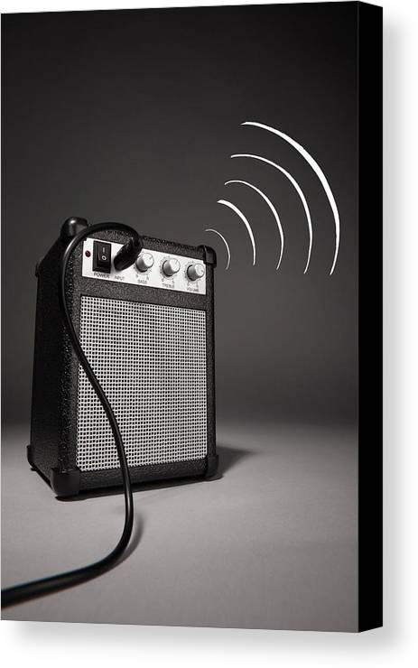 Vertical Canvas Print featuring the photograph Speaker To Me by Martin Diebel Photographer