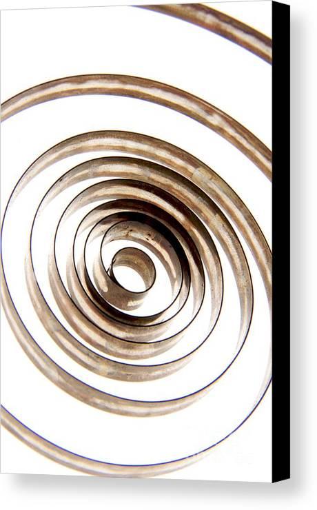 Circle Canvas Print featuring the photograph Spiral by Bernard Jaubert