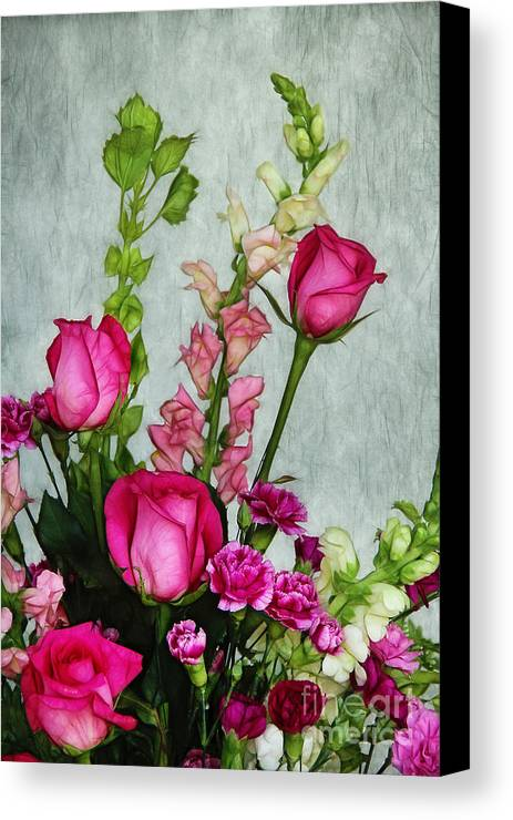 Roses Canvas Print featuring the photograph Spray Of Flowers by Judi Bagwell