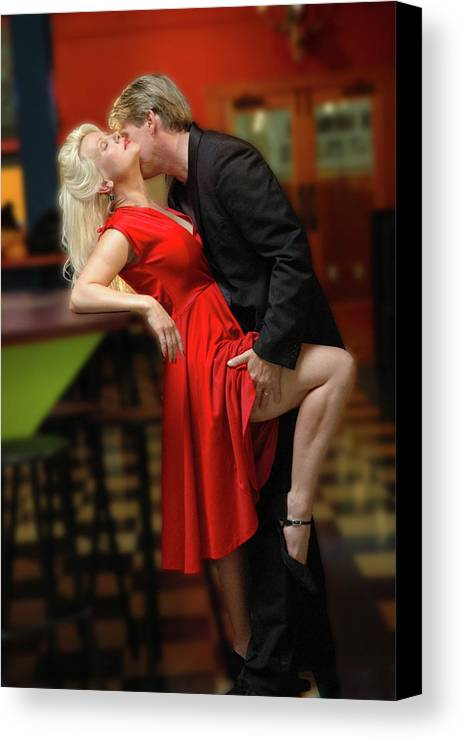 Couple Canvas Print featuring the photograph Steamy by Rianna Stackhouse