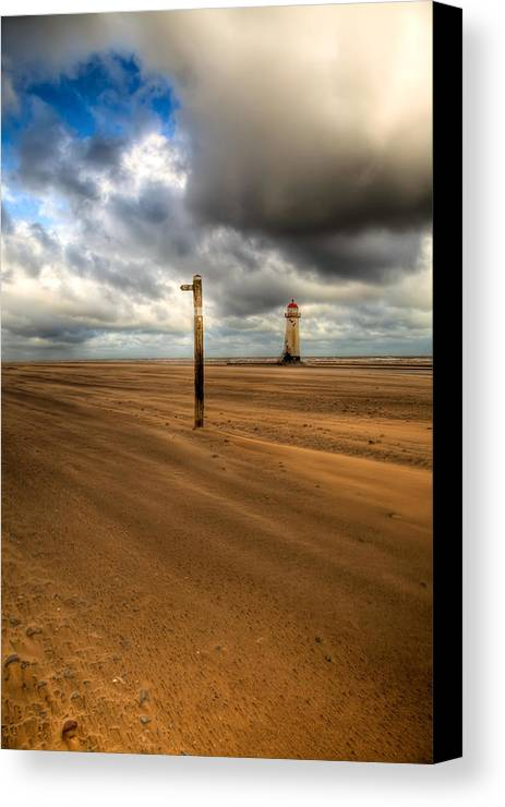 Hdr Canvas Print featuring the photograph Storm Brewing by Adrian Evans