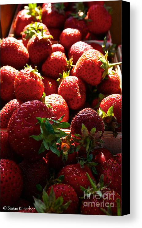 Food Canvas Print featuring the photograph Sun Ripened by Susan Herber