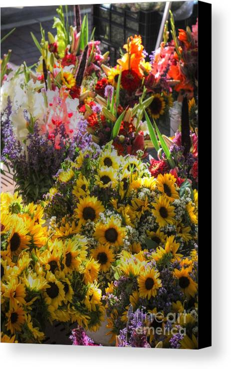 Canvas Print featuring the photograph Sunflowers And Glads by David Bearden