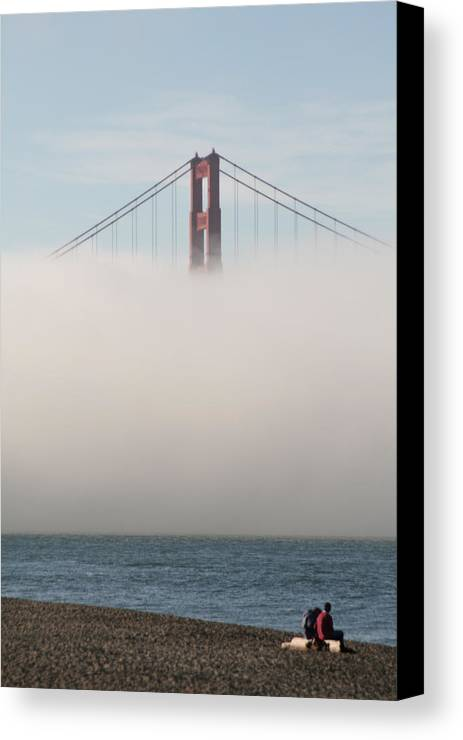 Golden Gate Canvas Print featuring the photograph Taking A Moment by Loud Waterfall Photography Chelsea Sullens