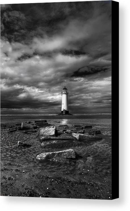 Beach Canvas Print featuring the photograph The Old Lighthouse by Adrian Evans