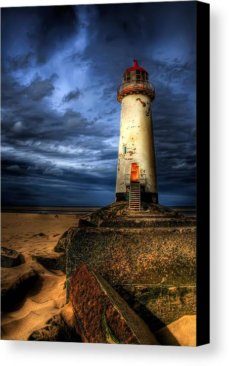 Beach Canvas Print featuring the photograph The Talacre Lighthouse by Adrian Evans