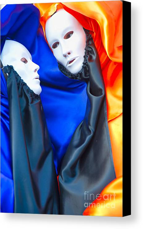 Carnaval Canvas Print featuring the photograph Venice Mask by Luciano Mortula