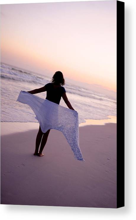 Sea Canvas Print featuring the photograph Viewing The Beauty Of The Ocean by Alyssa Tate