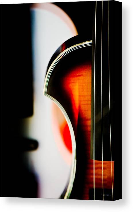 Canon Canvas Print featuring the photograph Violin by Hakon Soreide