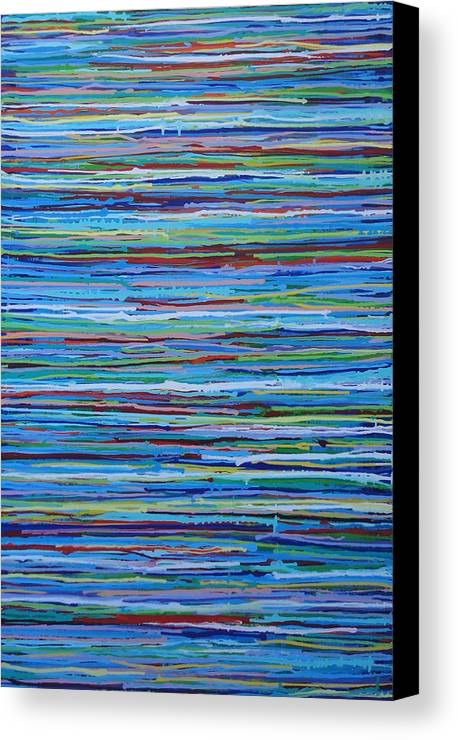 Abstract Canvas Print featuring the painting Water Shimmer Resin by Elizabeth Langreiter