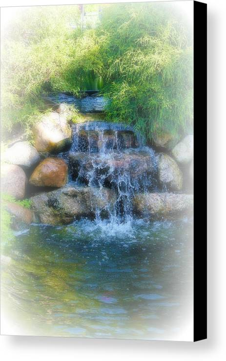Water Canvas Print featuring the photograph Waterfall by Rebecca Frank