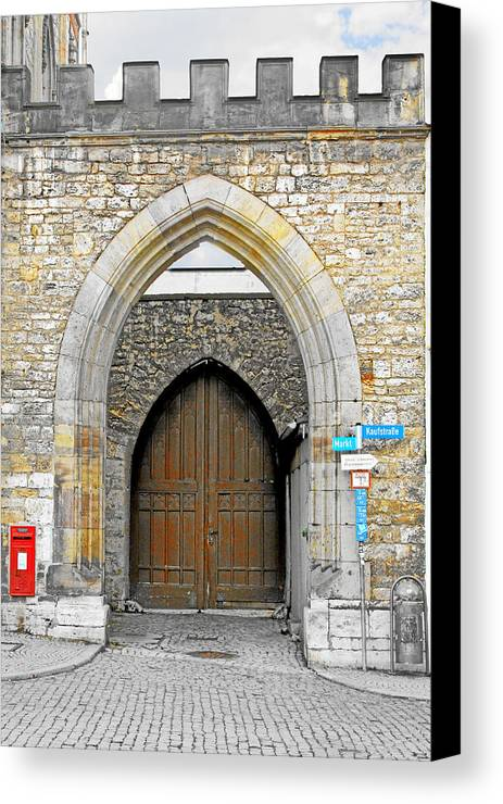 Gate Canvas Print featuring the photograph Weimar - Unesco World Heritage Site by Christine Till